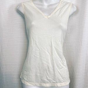 CUDDL DUDS Ivory Camisole Cami Tank Top Shirt sz M
